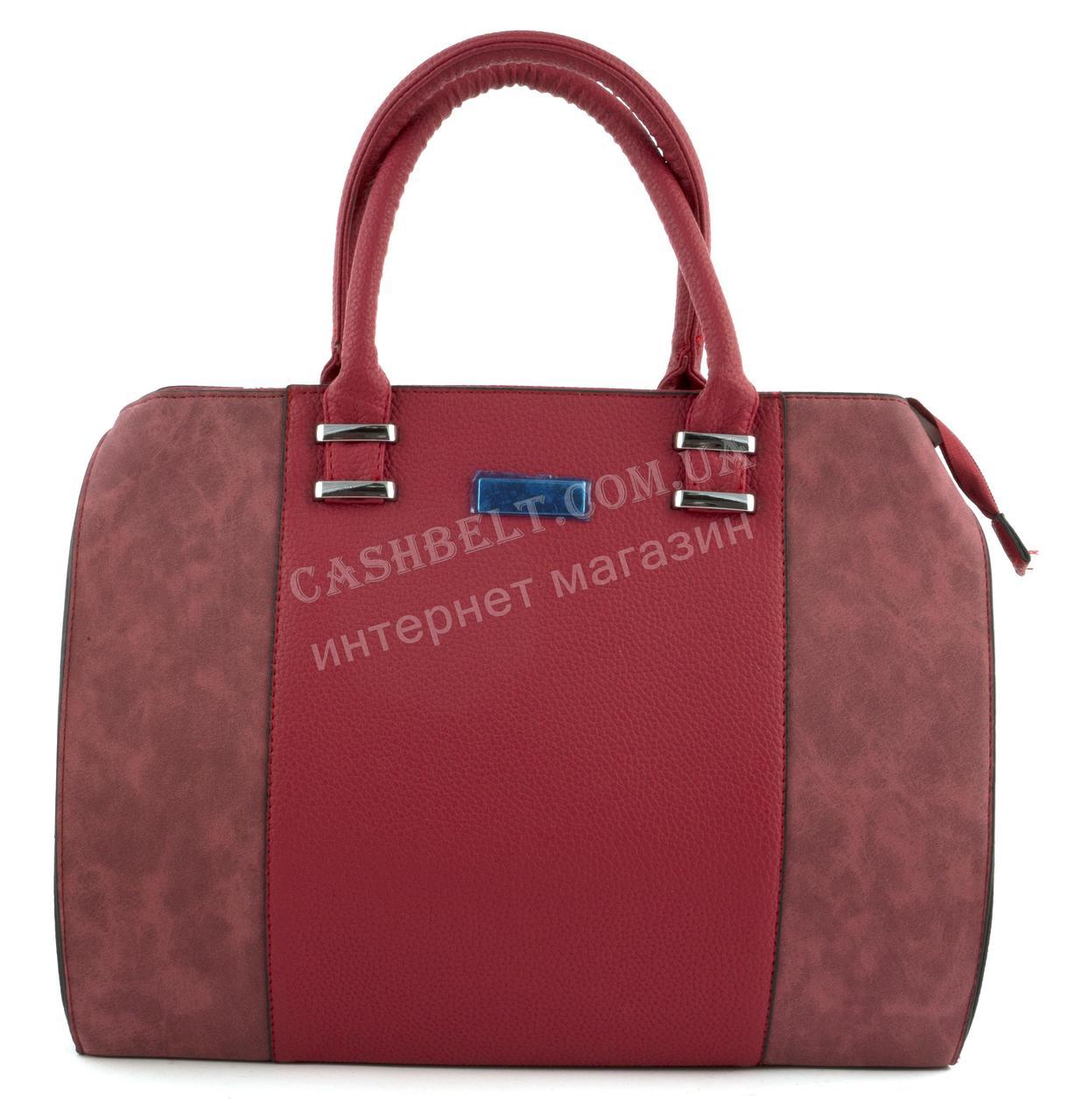 a995e741a49e Большая каркасная стильная прочная женская сумка art. 040 красная ...
