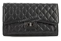 Небольшая стильная женская стеганая сумочка клатч SULIYA art.802 черная