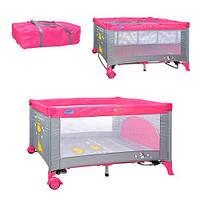 Детский Манеж кровать BAMBI M 0525 2 уровневый