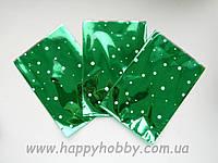 Пакеты с рисунком и зелёной фольгой, 100 шт