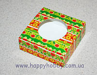 """Коробочка для упаковки мыла квадратная """"Цветущая поляна"""""""