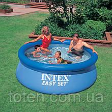 Надувной бассейн семейный Intex 28110, 244 х 76 см, голубой, ремкомплект