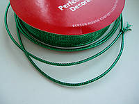 Шнур декоративный зелёный, 4 м