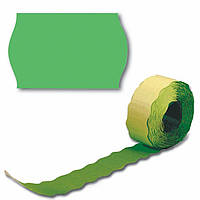 Ценник рулонный зеленый А12(26х12),2,5м 208шт, фигурн