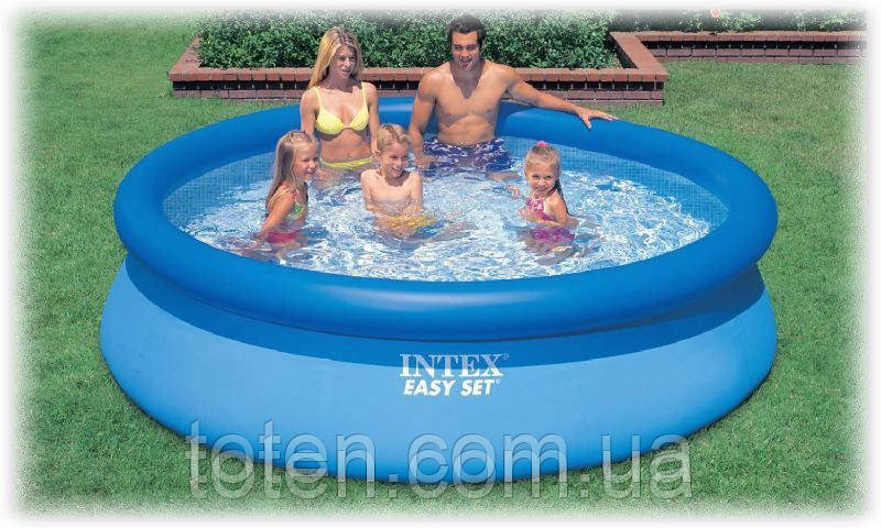 Надувной качественный семейный бассейн Intex 28120 размер 305-76 см, арт. 56920 11-т2