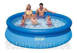 Надувний якісний сімейний басейн Intex 28120 розмір 305-76 см, арт. 56920