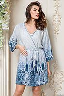 Короткий классический халат Mia Sofia с рукавом ¾ MARIKA/ Марика 6463