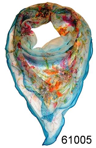 Нежный шейный платок 60*60  (61005) 1
