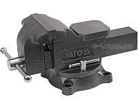 Поворотные слесарные тиски 125мм Yato YT-6502