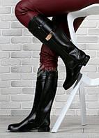Сапоги женские резиновые высокие черные на молнии Beauty Girls, Черный, 40