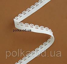 Резинка ажурная- 2510, ширина 1см, цвет белый/черный