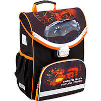 """Ранец Kite16 K16-529S-3 черно-оранжевы каркасный """"529 Speed"""" размер 36x27x14см, вес 850г, объём 13л, ортопедическая спинка"""