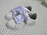 Женские белые кеды, шнурки ленты Польша