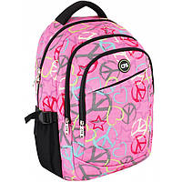 Рюкзак CF17 CF85857 розовый 44х32х15 см, полиэстер, Laptop-карман, ортопедическая спинка, эргономичные лямки, 3 отделения,боковые карманы