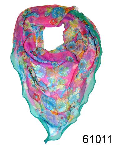 Нежный шейный платок 60*60  (61011) 1