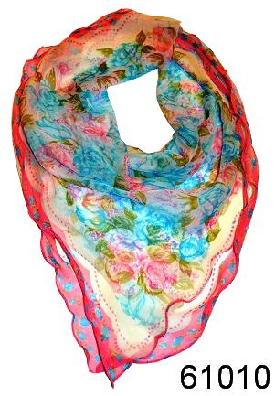 Нежный шейный платок 60*60  (6101059) 1