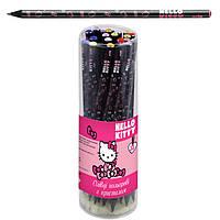 "Карандаш чернографитный Kite HK17-059 туба ""Hello Kitty"" с кристаллом"
