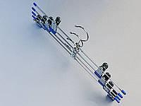 Плечики вешалки тремпеля металлические  хромированные,  длина 35 см, в упаковке 4 штуки