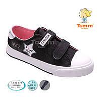 Подростковые джинсовые кеды для девочек оптом от фирмы Tom.m 1371U (12/6 пар, 32-37)