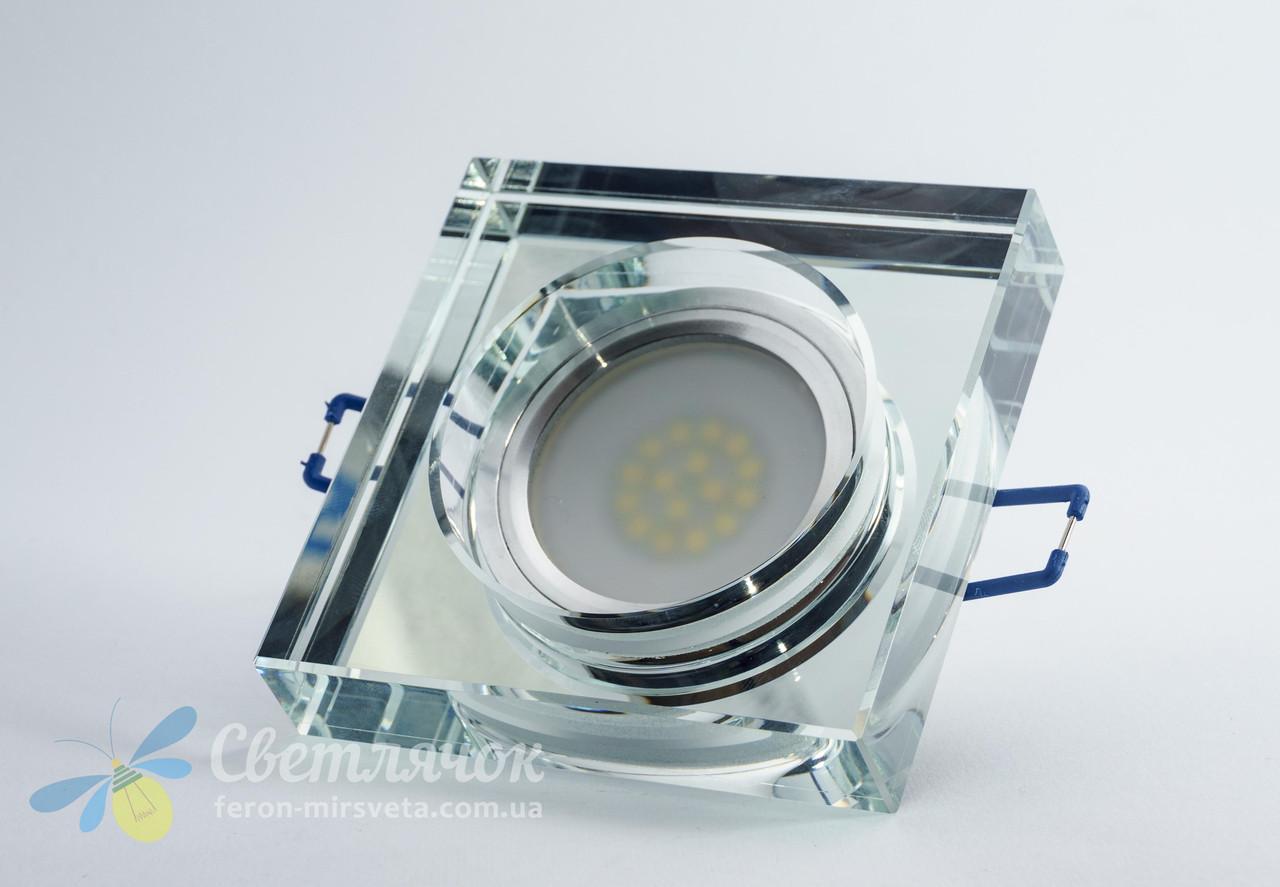 Cветильник точечный встраиваемый Feron 8180-2 под лампу MR16 прозрачный