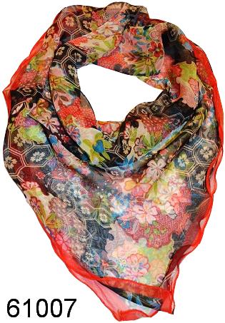 Нежный шейный платок 60*60  (61007) 1