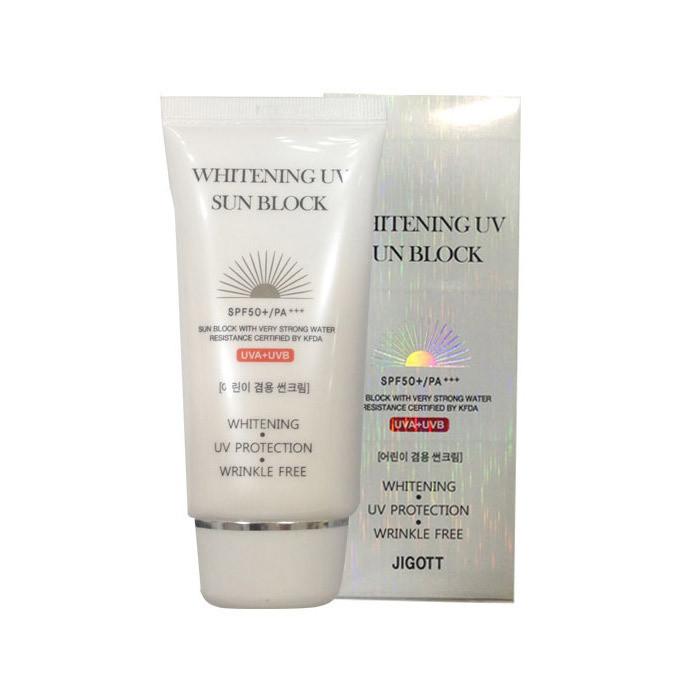 Oсветляющий солнцезащитный крем Jigott Whitening UV Sun Block SPF 50+/PA+++