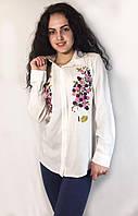 Стильная хлопковая рубашка с вышитым узором