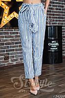 Женские брюки с завышенной талией с карманами