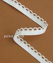 Резинка для белья(волна) - Е2327-10 белая, ширина 10мм(нарезаем от 100м)