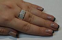 Кольцо серебряное  с накладками золота