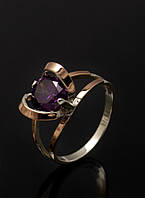 Кольцо из серебра с золотой пластиной