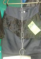 Школьная юбка для девочки (темно-синяя)
