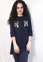 Молодежная женская рубашка из креп-шифона