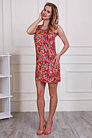 Красивое летнее молодежное платье свободного фасона