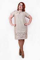 Женское летнее льняное платье , фото 1