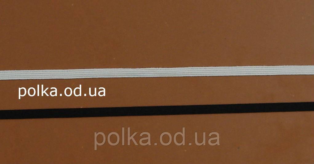 Узкая резинка для белья белая - ЕМ005-05, ширина 5мм(нарезаем от 100м)