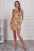 Молодежное платье с оригинальным вырезом по спине