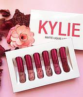 Набор Жидких Матовых Помад Kylie Matte Liquid Lipstick Блески для Губ 6 штук