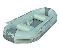 Надувная трехместная лодка с веслами Marine Pro, 291х127х46см, до 270кг