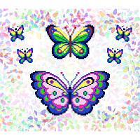 Водорастворимый флизелин с рисунком бабочки