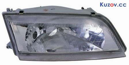Фара Nissan Maxima A32 95-00 левая (Depo) механич., пластмас. рассеиватель (прозрачн.) 215-1174L 23260603M1002