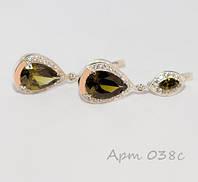"""Срібні сережки з накладками із золота """"Роксолана"""", фото 1"""
