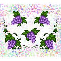 Водорастворимый флизелин с рисунком виноградные листья