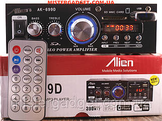 Усилитель Alien AK-699D (TS-820) FM, SD card, USB отличный звук 2x250W