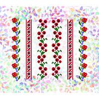 Водорастворимый флизелин с рисунком цветочные узоры