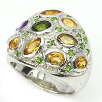 Кольцо с натуральными камнями