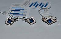 """Срібні сережки з золотими напайками """"Риф"""", фото 1"""