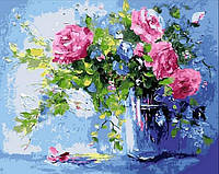 Картины по номерам 40 х 50 см. Розовый букет