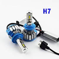 Комплект LED ламп TurboLed T1 H7 6000K 50W 12/24v CanBus с активным охлаждением