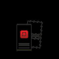 Наклейка (стикер) прямоугольная 50х90мм 500 шт